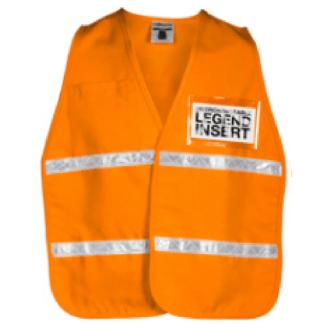 ML Kishigo 3712i Fluorescent Orange Incident Command Vest