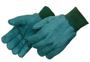 4206 Heavy Weight Green Chore Gloves With Matching Knit Wrist, Dozen