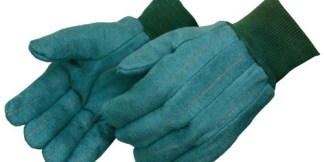 4206 Heavy Weight Green Chore Gloves With Matching Knit Wrist, Dozen