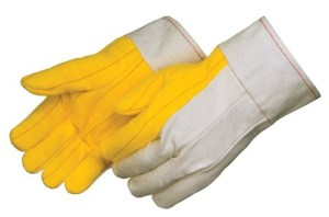 """4211 Heavy Weight Golden Chore With Canvas Back Glove, With 2 1/2"""" Canvas Band Top Cuff, Dozen"""
