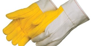 "4211 Heavy Weight Golden Chore With Canvas Back Glove, With 2 1/2"" Canvas Band Top Cuff, Dozen"