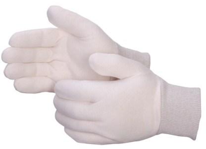 4509Q Reversible Regular Weight Natural Jersey Glove With Knit Wrist, Dozen