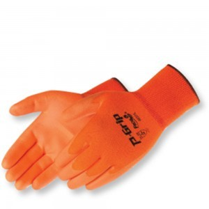 4637 P-Grip Ultra-Thin Fluorescent Orange Polyurethane Palm Coated Glove, Dozen