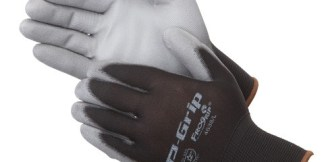 P-Grip P4638  Gray Ultra-Thin Polyurethane Coated Palm Glove, Dozen