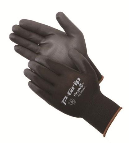 P-Grip P4638BK Ultra-Thin Black Polyurethane Coated Palm Glove, Dozen