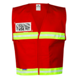 ML Kishigo 4708 Red Incident Command Vest