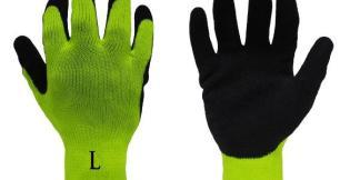 Liberty Gloves 4729HY A-Grip Black Coated Latex Coated Palm Glove, Dozen