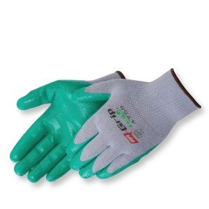 Liberty Gloves 4759 Q-Grip Green Nitrile Coated Palm Glove, Dozen