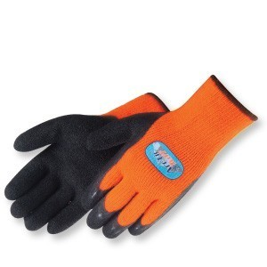 Liberty Gloves 4789HO A-Grip Artic Tuff Black Latex Coated Glove, with Heavy Thermal Lining, Dozen