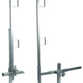 "Falltech 6040422 Guardrail Post/Clamp Set 42"" Edge/Wall Single Post"