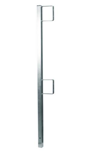 """Falltech 6401422 Guardrail Post 42"""" with 2-rail Brakets"""