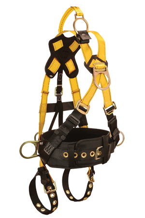 FallTech 8026 RoughNeck 5-D Full Body Harness Derrick Cross-over Belted