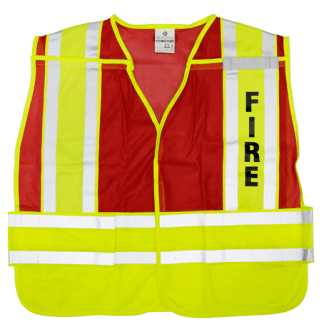 MLK 8052RV Lime Red/Fire Class 2 Safety Vest