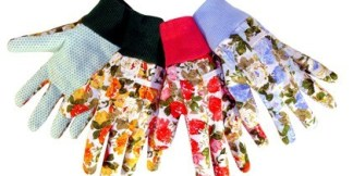 9123 Assorted Floral Print Cotton Canvas Glove, Dozen