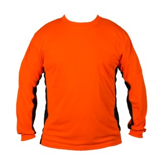 ML Kishigo 9203 Premium Black Series Long Sleeve Hi Viz Orange T-Shirt