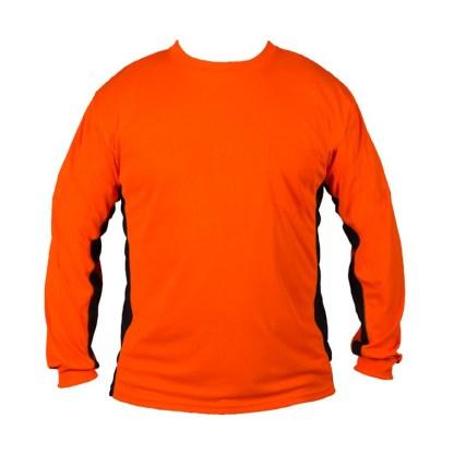 ML Kishigo 9203 Premium Black Series Long Sleeve Hi Viz Orange T-Shirt