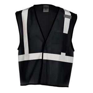ML Kishigo B120 Enhanced Visibility Black Mesh Vest