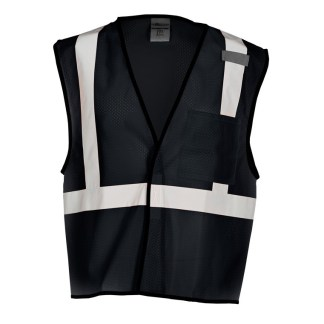 ML Kishigo B120 Enhanced Visibility Black Mesh Vest