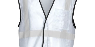 ML Kishigo B124 Enhanced Visibility White Mesh Vest