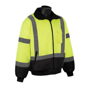 C16725G Class 3 Lime Green Hooded Bomber Jacket