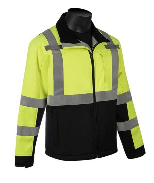 C16728GB Class 3 Soft Shell Jacket with Black Bottom