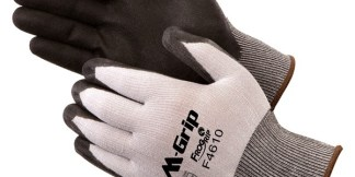 F4610 M-Grip Black High Density Polyurethane 15 Mil Coated Palm Glove, Dozen