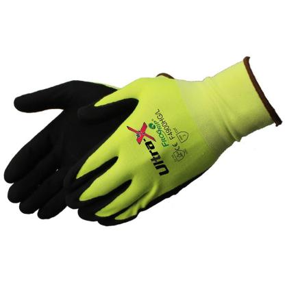 Liberty Gloves F4900HG Ultra-X 18 Gauge Highly Cut Resistant Hi Vis Lime Green Shell with Black Micro-Foam Nitrile Coated Palm, Dozen