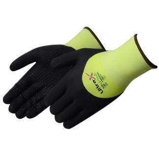 Liberty Gloves F4905HG Ultra-X 18 Gauge Cut Resistant Hi Vis Green Shell with 3/4 Black Micro-Foam Nitrile Coated Palm, Dozen
