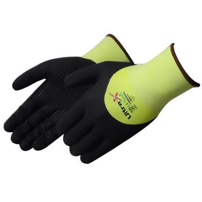 Liberty Gloves F4905HG Ultra-X 18 Gauge Cut Resistant Hi Vis Green Shell with 3/4 Black Micro-Foam Nitrile Coated Palm, Dozen