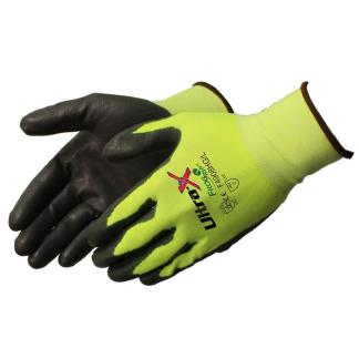 Liberty Gloves 4908HG Ultra-X 18 Gauge Cut Resistant Hi Vis Green Shell with Gray Coated Palm, Dozen
