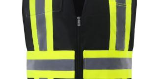 IC110BK BLACK CONTRAST INCIDENT COMMAND VEST