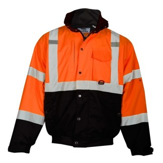 ML Kishigo JS131 Orange Class 3 Ripstop Bomber Jacket