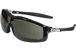 RT112AF Black Frame, Gray Anti-Fog Lens with Interchangeable Temples And Head Band