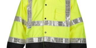 ML Kishigo RWJ100 Storm Stopper Pro Lime Rainwear Jacket