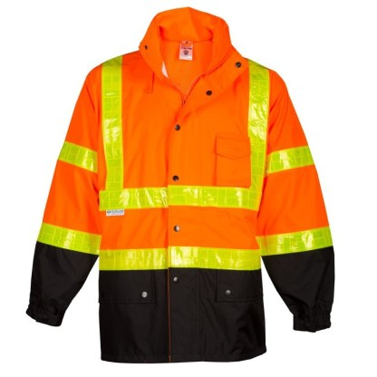 ML Kishigo RWJ101 Storm Stopper Pro Orange Rainwear Jacket