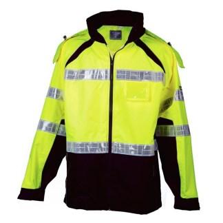 ML Kishigo RWJ112 Premium Brilliant Series Lime Rainwear Jacket