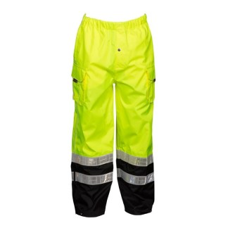 ML Kishigo RWP106 Premium Black Series Lime Class E Pants