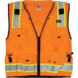 ML Kishigo S5001 Class 2 Orange Professional Surveyors Safety Vest