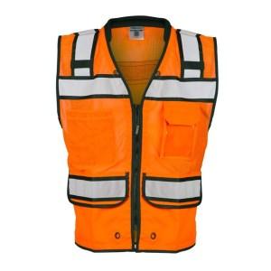 ML Kishigo S5005 High Performance Surveyors Zipper Orange Vest