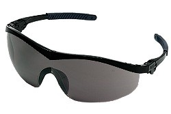 ST112AF Safety Glasses - BLACK FRAME GREY ANTI-FOG LENS