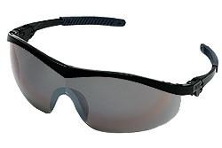 Storm Safety Glasses - BLACK FRAME SILVER MIRROR LENS