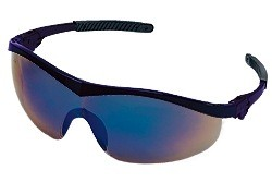 ST128 Safety Glasses - NAVY FRAME BLUE MIRROR LENS