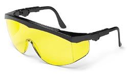 Tomahawk Safety GlassesBlack Frame - Amber Lens
