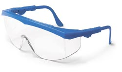 Tomahawk Safety GlassesBlue Frame, Clear Lens