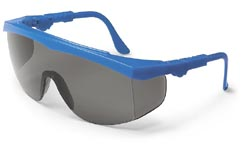Tomahawk Safety GlassesBlue Frame, Grey Lens, Duramass AF4