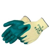 Atlas KV350 10-Gauge Textured Green Nitrile Palm Glove, Dozen