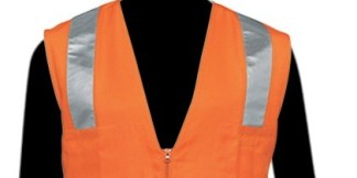C16010F Economy Solid Front Mesh Back Orange Class 2