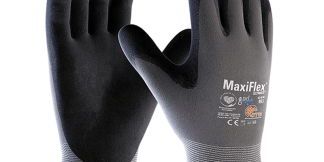 PIP ATG MaxiFlex 34-874 Grey/Black Large Nylon Full Fingered General Purpose Gloves, Dozen