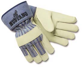 Mustang Leather Palm Gloves - Leather palm gloves w/ gauntlet cuff