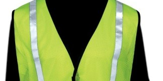 N16001G All Mesh Lime Non-ANSI Vest, With Reflective Stripes